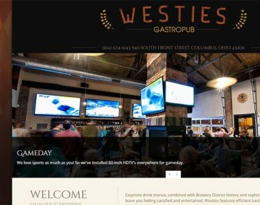 WordPress Website Design for Columbus Restaurant Bar Pub